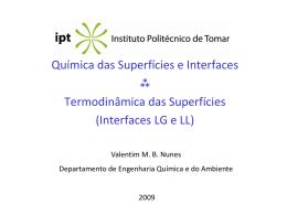 Termodinâmica de Superfícies