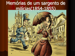 Memórias de um sargento de milícias(1854-1855)