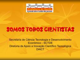 SOMOS TODOS CIENTISTAS