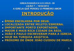 16/04/2012 a igreja que perdeu o primeiro amor