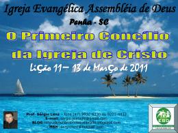 O Primeiro Concílio da Igreja de Cristo