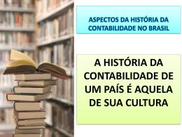 Aspectos da História Contábil Brasileira