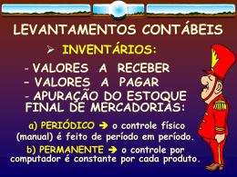 LEVANTAMENTOS CONTÁBEIS - Uni