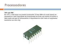 Apresentação sobre Processadores (Formato PPT