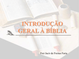 Introdução Geral à Bíblia