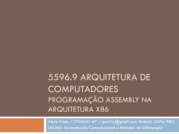5596.9 arquitetura de computadores programação