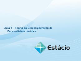 TEORIA DESCONSIDERAÇÃO DA PERSONALIDADE JURÍDICA
