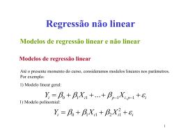Modelos de regressão não linear