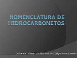 Nomenclatura de Hidrocarbonetos II