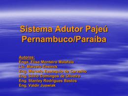 Projeto Sistema Adutor Pajeú Pernambuco/Paraíba