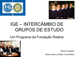 Apresentação sobre o IGE
