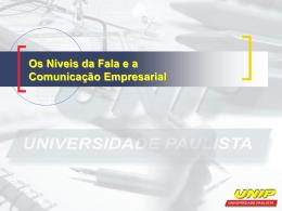 Comunicação Empresarial - Ambiente Virtual de Aprendizado