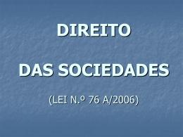 Direito das Sociedades (1.ª sessão)