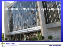 Registro de Materiais de Uso em Saúde