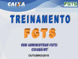 RSN Administrar o FGTS – Cuiabá/MT - CRC-MS