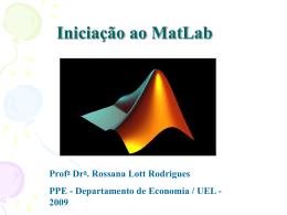 apresentação matlab