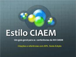 Estilo CIAEM - Centro de Investigaciones Matemáticas y Meta