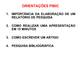 REUNIÃO PIBIC
