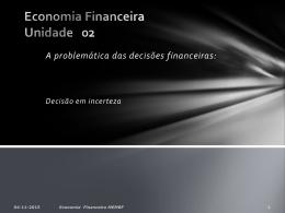 B2. UNIDADE 2 - decisões financeiras em incerteza