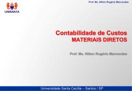 Prof. Ms. Nilton Rogério Marcondes