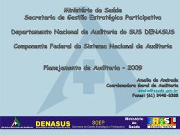 Apresentação da CGAUD – Amélia Andrade - SNA