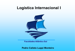 Logística Internacional Unidade VI