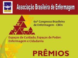 Prêmios - Associação Brasileira de Enfermagem
