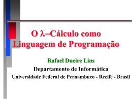 O Lambda Calculus como uma Linguagem de Programação