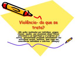 O que é violência contra crianças e adolescentes