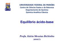 Aula 5 - Departamento de Química - UFPB