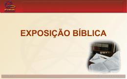EXPOSIÇÃO BÍBLICA