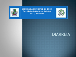 Diarreia - pet | medicina - Universidade Federal da Bahia