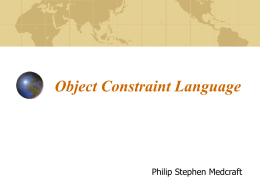 ObjectConstraintLanguage