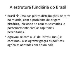 Estrutura fundiária brasileira