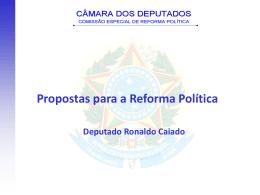 {Palestra} Reforma Política - Deputado Ronaldo Calado