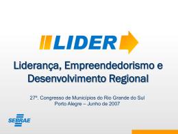 LIDER apresentação aos participantes