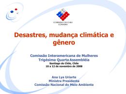 Desastres, mudança climática e gênero