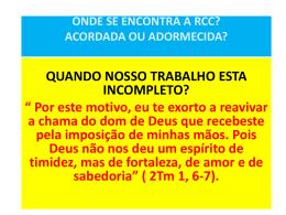 Encontro com a RCC