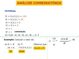ANÁLISE COMBINATÓRIA 1 PROFESSOR RICARDINHO (555