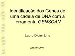 Predição de Genes em DNA com a ferramenta Genscan
