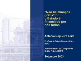 A economia portuguesa numa encruzilhada