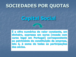 sociedade por quotas