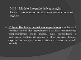 MIN - Modelo Integrado de Negociação