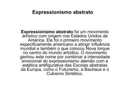 Expressionismo abstrato Expressionismo abstrato