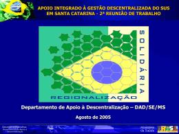 Departamento de Apoio à Descentralização