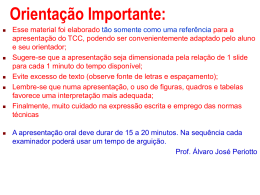 Modelo de Apresentação do TCC - Departamento de Administração