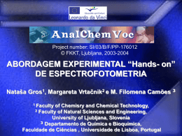 "Abordagem Experimental ""Hands-on"" da Espectrofotometria"