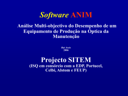 ANIM Projecto SITEM PPS-3 Análise Multi