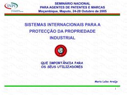 SISTEMAS INTERNACIONAIS PARA A PROTECÇÃO DA
