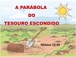 A Parábola do Tesouro Escondido